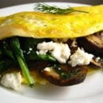 Spinach and Mushroom Omelet Recipe – 3 Points