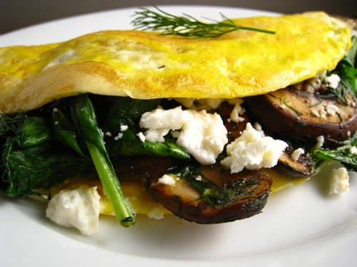 Weight Watchers Mushroom and Spinach Omelet