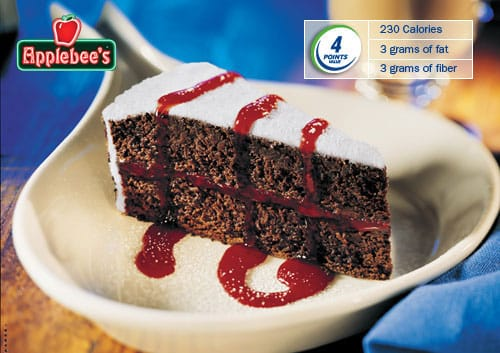 applebees chocolate raspberry layer cake