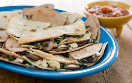 beef spinach quesadilla