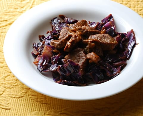 skillet pork and cabbage