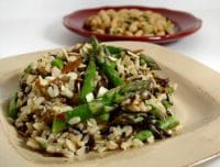 wild rice barley asparagus pilaf