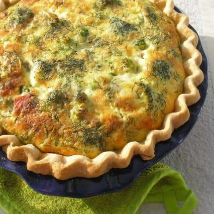 Broccoli and Cheddar Quiche Recipe - 5 Point Value - LaaLoosh
