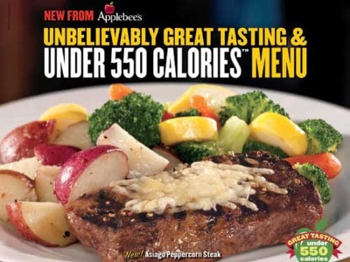 Applebees Weight Watchers Menu