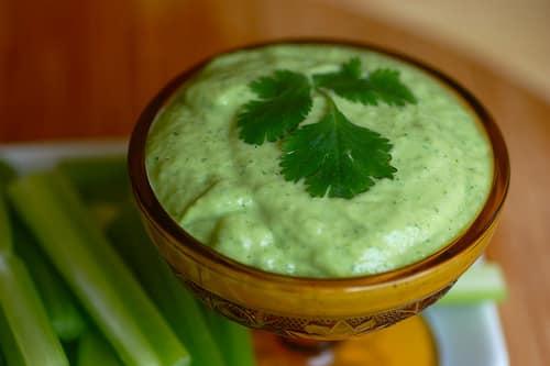 almond cilantro dip