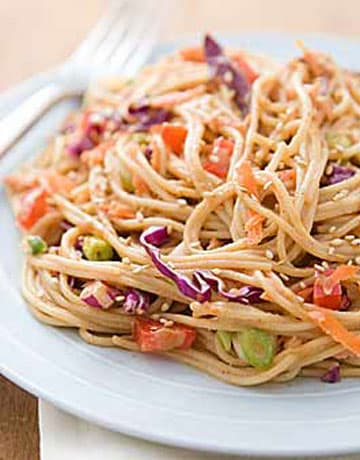 Hot or Cold Sesame Noodles Recipe by Rachael Ray - 6 ...