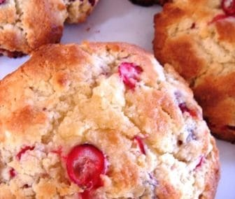 low fat cranberry scones