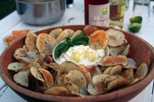 Parmesan and Garlic Potato Chips