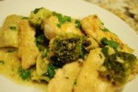 lemon chicken with broccoli and artichokes