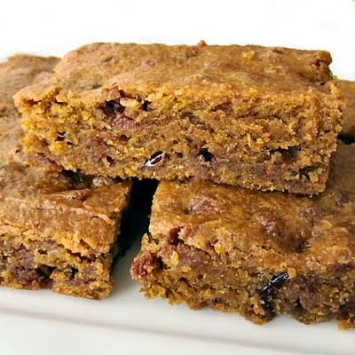 blueberry and cranberry pumpkin bars