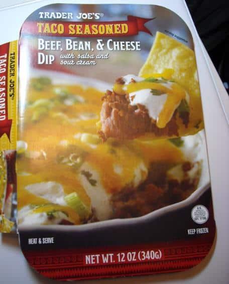 beef cheese bean dip