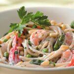 Creamy Garlic Shrimp Pasta Recipe, with Vegetables – 10 Points