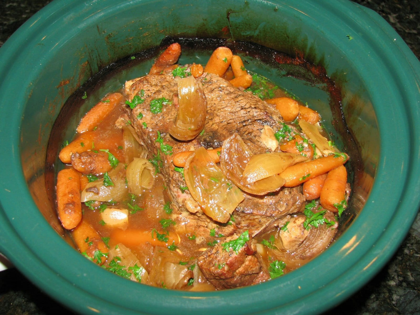 Awesome Slow Cooker Pot Roast Recipe — Dishmaps