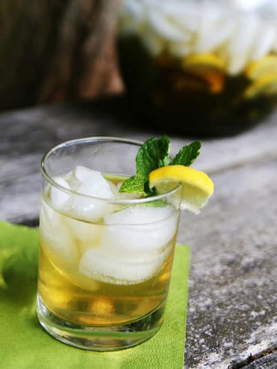 Mint Jasmine Iced Green Tea