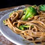 Chinese Noodles with Broccoli in Peanut Sauce Recipe – 6 Points