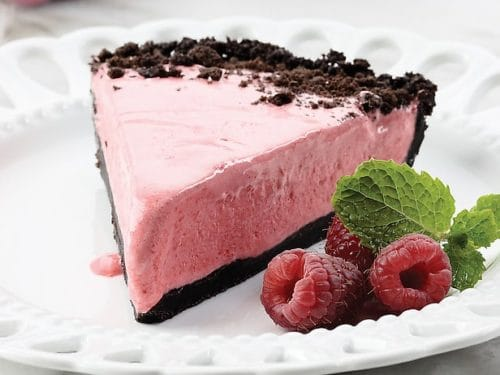 Frozen Chocolate Raspberry Pie