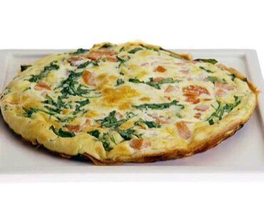 spinach ham and egg whites frittata