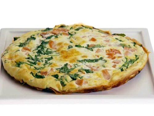 Spinach, Ham and Egg Whites Frittata