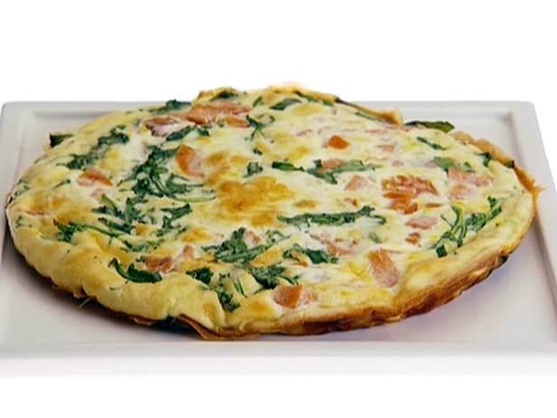 Spinach, Ham and Egg Whites Frittata Recipe - 2 Points + - LaaLoosh