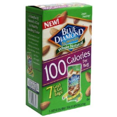 blue diamond almonds 100 calorie packs