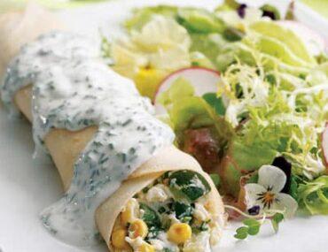 summer vegetable crepes