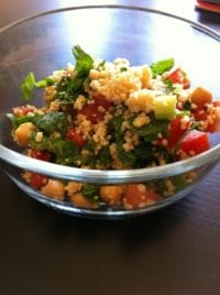 couscous and garbanzo bean tabbouleh