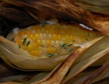 grilled corn on the cob with lemon thyme butter