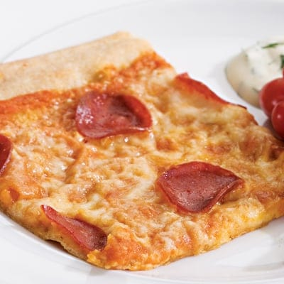 Low Calorie Pepperoni Pizza