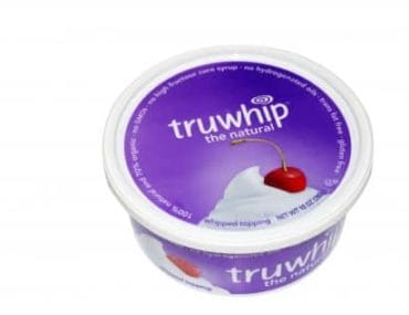 truwhip whipped topping