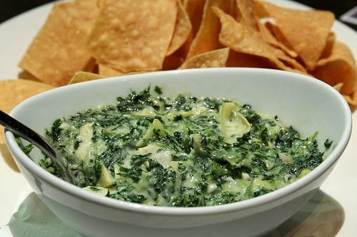 Hot Spinach Artichoke Dip Recipe - 2 Points + - LaaLoosh