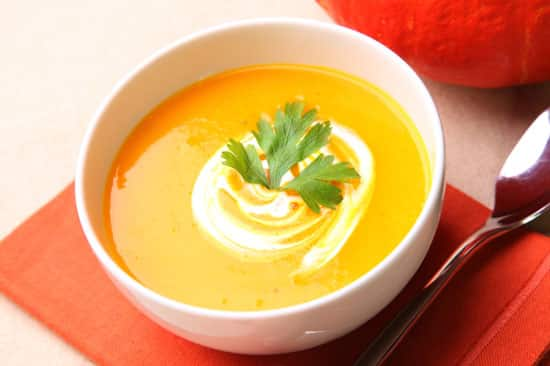 pumpkin sweet potato bisque
