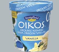 Stonyfield Oikos Organic Nonfat Greek Frozen Yogurt