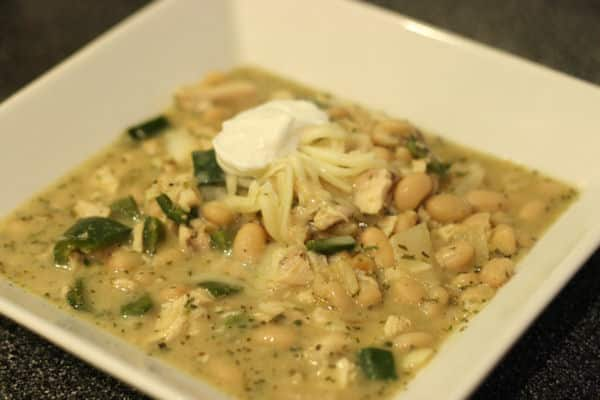 White Chicken Chili Recipe - 5 Points + - LaaLoosh