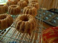 baked maple glazed apple cider doughnuts