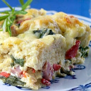 Ham and Cheese Breakfast Casserole Recipe - 5 Points + - LaaLoosh