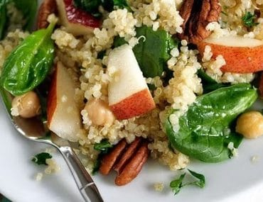 pear quinoa and spinach salad