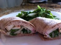 turkey wrap with blue cheese and apple