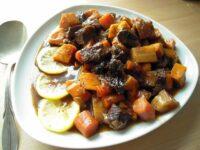 braised brisket with root vegetables