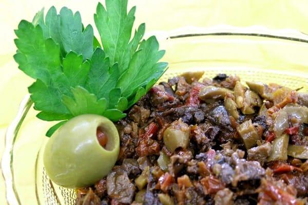 olive and mushroom tapenade
