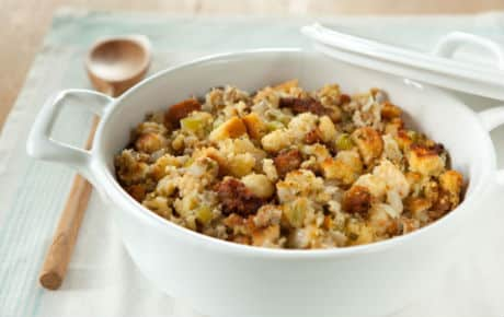 Sage and Sausage Cornbread Stuffing Recipe - 6 Points + - LaaLoosh