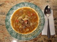 sweet and sour beef cabbage soup