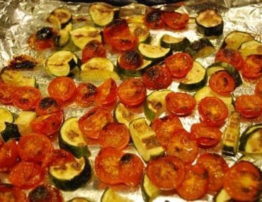 roasted tomato and zucchini