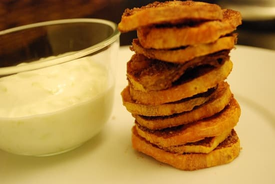 spiced yam chips