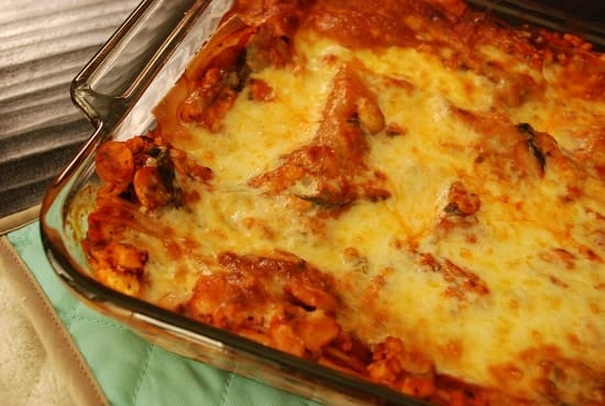 Turkey Lasagna with Spinach and Mushrooms