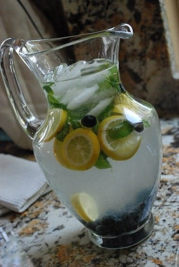 blueberry mint lemonade blueberry lemonade with fresh blueberry mint ...