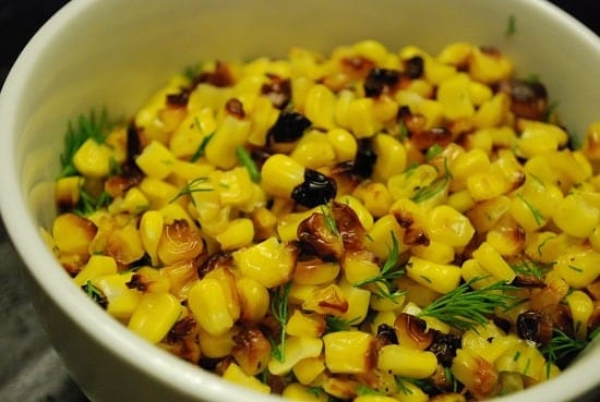 roasted corn with dill