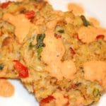 Baked Crab Cakes Recipe with Chipotle Lime Sauce – 3 Points