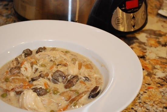 Creamy Mushroom and Chicken Stew