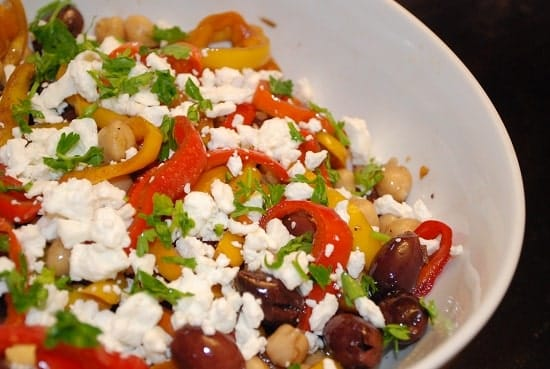 ... peppers warm marinated feta cheese this carrot salad is a yellow bell