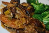 moroccan spiced chicken with prunes